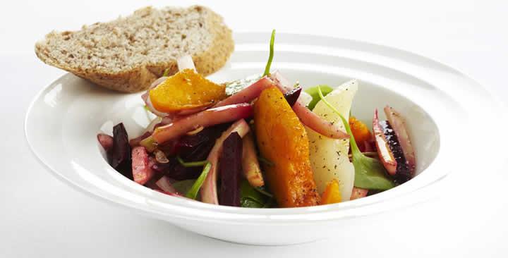 Lekkere salade met vergeten groenten