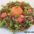 Krans herfst met pompoen