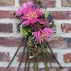 Columbarium bloemstuk maken ter nagedachtenis aan een dierbare overledene.