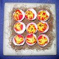 Paasnest met gevulde eieren