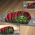 Eenvoudig bloemstukje maken voor op de feesttafel.