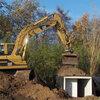 Aanleg van een vleermuizenbunker of vleermuizenverblijf in de tuinen in Demen