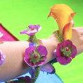 Bloemen op te dragen