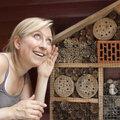 Het insectenhotel van dichtbij bekeken