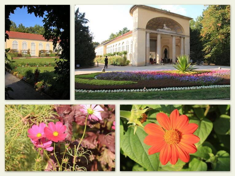De bloementuinen rond de Orangerie in Der Neuer Garten.