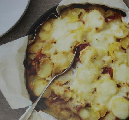 Gegratineerde aardappelen met Ardeense ham