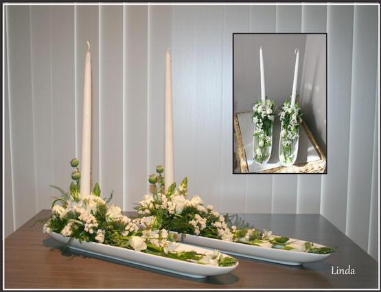 bloemstukjes maken voor lentefeest of communiefeest