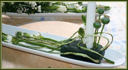 bloemstuk maken voor communiefeest