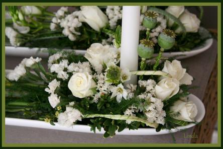 bloemstuk maken voor communicant
