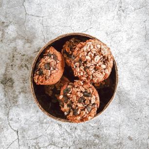 pompoenmuffin met chocoladestukjes