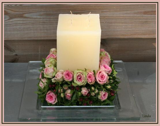 romantisch bloemstuk maken met rozen