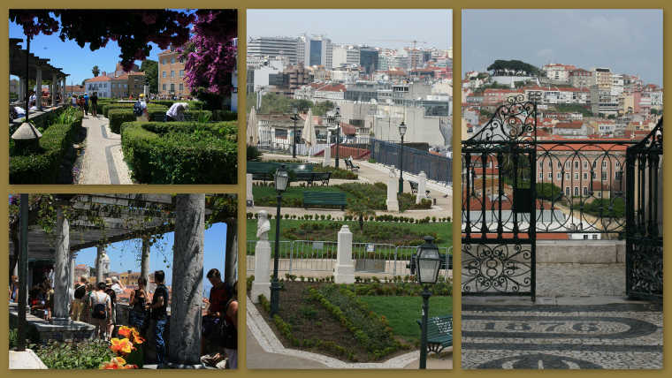 Miradouro's in Lissabon