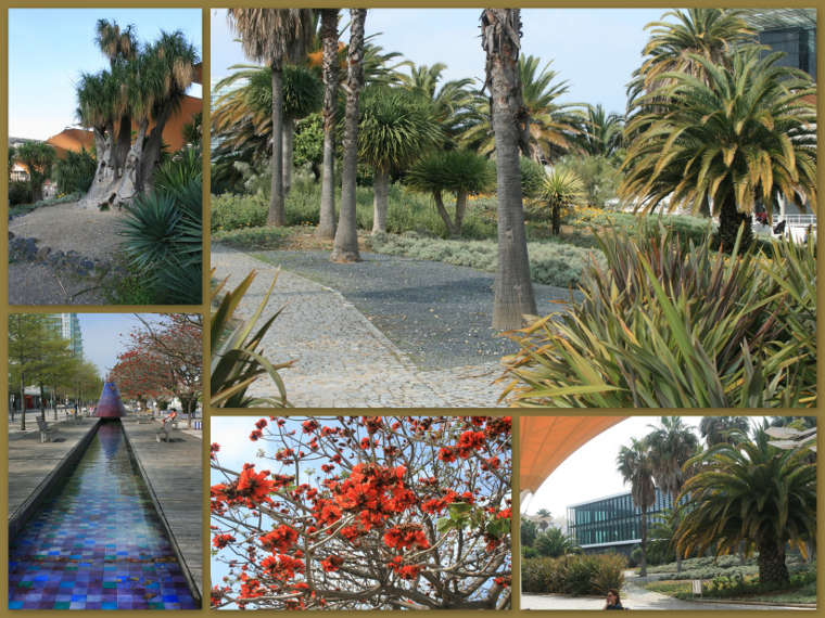 de tuinen in het Parque Naçoes
