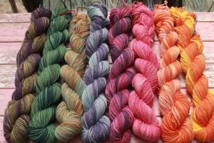 Natuurlijk gekleurde wol
