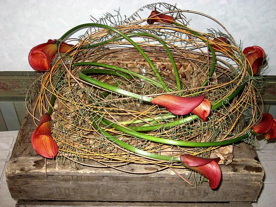 bloemschikken zonder steekschuim of oasis