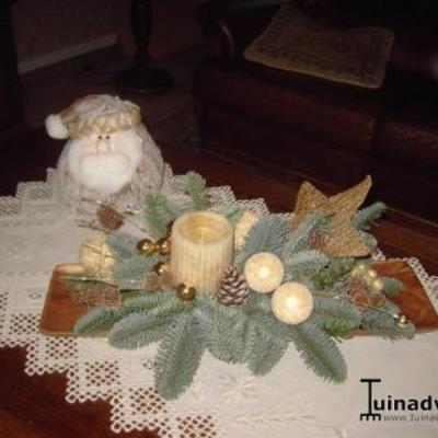 Tafelstukje voor kerst