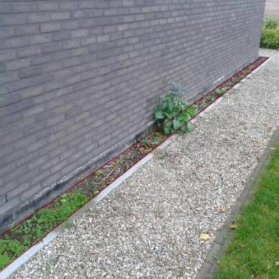 Smal plantvakje beplanten