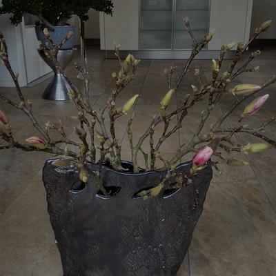 Bijzondere vaas vraagt om bijzondere bloemen