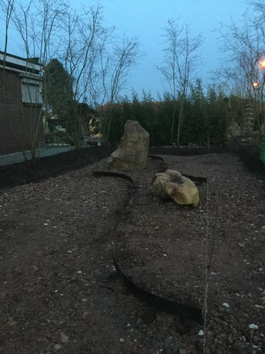 Foto uit de tuin van japanse tuin project - Foto droge tuin ...