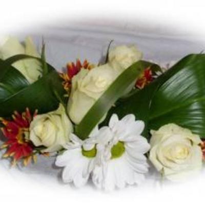 Overschot van witte roosjes