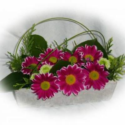 Met de resterende bloemen
