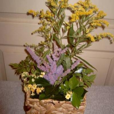 Mandje met bloemen