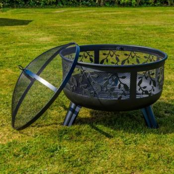 Hedendaags Vuurkorf met deksel en pook - Vuurkorf voor de tuin | Bbq en vuur JN-05