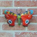 Vlinder dagpauwoog 19 cm muurdeco