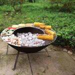 BBQ grillrooster/bakplaat - RVS