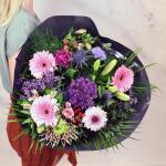 Boeket Rosalie, deluxe gebonden - roze/paars
