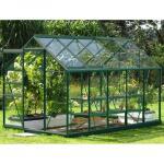 Tuinkas Venus All-in-ONE groen + tuinbouwglas 193 x 321 x 197 of 6,2 m²