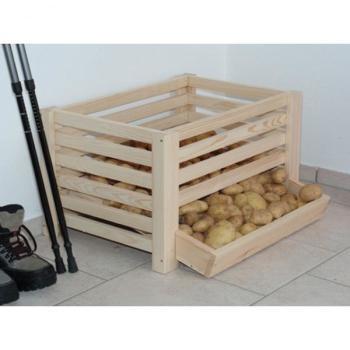Wonderbaar Aardappelen bewaren in houten kist of aardappelkist voor 20 kg YS-22
