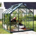Kweekkas Venus 3800 + tuinbouwglas - aluminium GROEN 3,8 m²