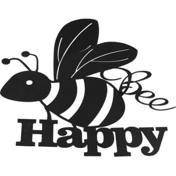 Bee Happy muurdecoratie
