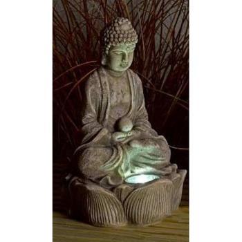 Boeddha Met Led Verlichting.Boeddha Zen Met Verlichting Op Zonne Energie
