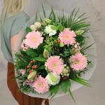 Boeket Rosanne, deluxe gebonden - roze/wit