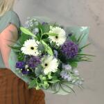 Boeket Violetta, extra large gebonden - blauw/paars/wit