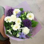 Boeket Violette, large gebonden - blauw/paars/wit