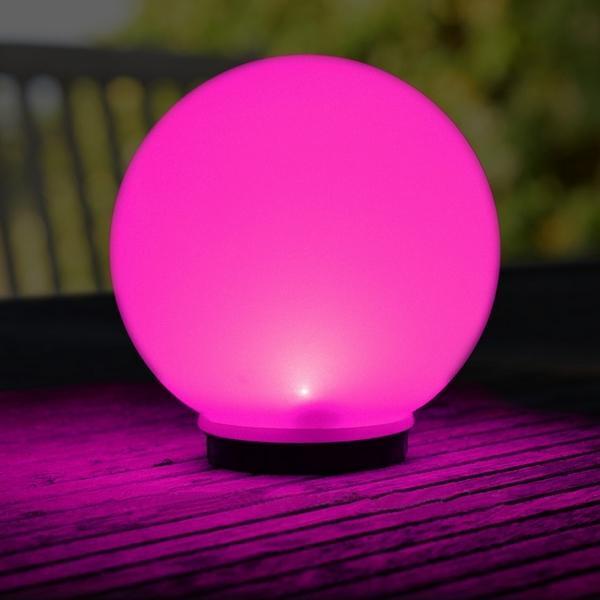 Bollamp op zonne energie met led lamp keuze gekleurd of for Solar licht