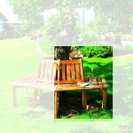 Boombank grenenhout - halve cirkel