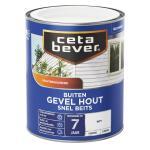 Cetabever Snelbeits Gevel Hout dekkend, wit - 750 ml