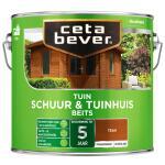Cetabever Tuinbeits Schuur & Tuinhuis transparant, teak - 2,5 l