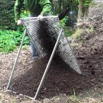 Grote tuinzeef voor compost, grond...