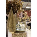 Dennenboom champagne glitter - 40 cm (3 stuks)