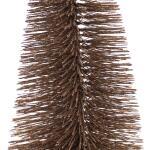 Dennenboom taupe glitter - 25 cm (5 stuks)