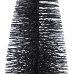 Dennenboom zwart glitter - 50 cm (3 stuks)