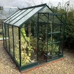 Drempelloze tuinkas met extra stevigheidsbeugels groen 5 m²