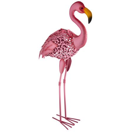 Flamingo in metaal - solar