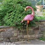 Flamingo tuinbeeld - metaal