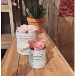 Flowerbox rond wit Ø 12 cm – Roze